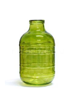 Банка с крышкой, зеленое стекло, 10 л
