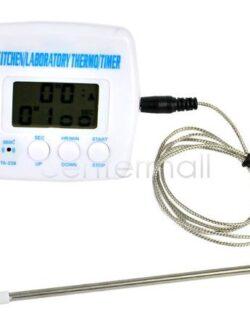 Многофункциональный термометр с зондом, таймером и датчиком температуры